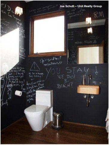 Ideal Badezimmer Erlebnis Wand mit Tafelfarbe