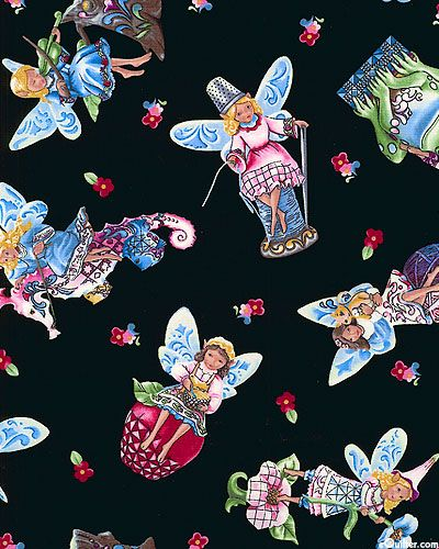 Spritely Helpers by Jim Shore for Quilting Treasures (Crafty Fairies collection).