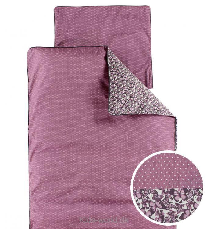 smallstuff sengetøj Smallstuff Sengetøj   Voksen   Mørk Rosa m. Prikker/Sommerfugle  smallstuff sengetøj