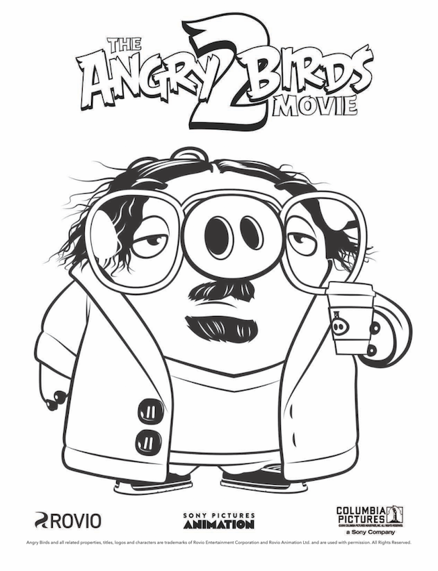 Angry Birds Movie Coloring Sheet Bird Coloring Pages Cartoon Coloring Pages Christmas Coloring Pages