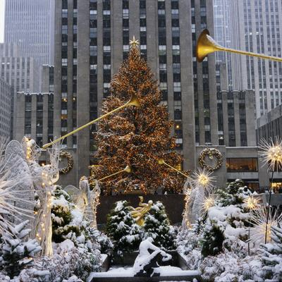 Rockefeller Center Christmas Tree Lighting NYC Winter
