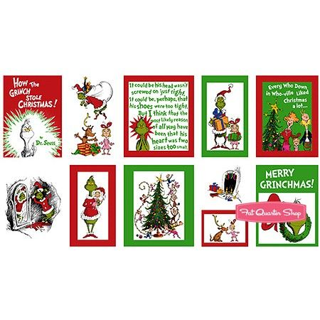 How the Grinch Stole Christmas Cotton Holiday Merry Grinchmas Quilt