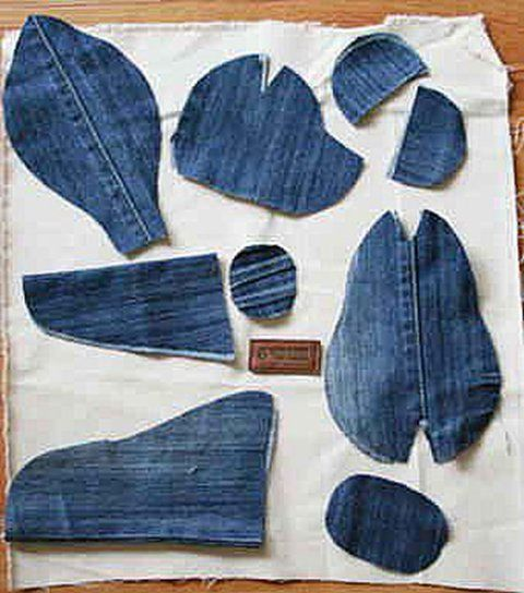 How to make a teddy bear from old jeans home design for Denim craft projects