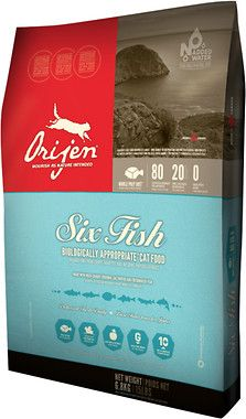 Orijen 6 Fish Cat Grain Free Formula Dry Cat Kitten Food Dog