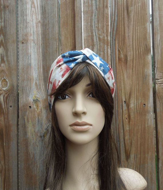 Patriotic Turban Headband by AurellaBlue on Etsy, $10.50