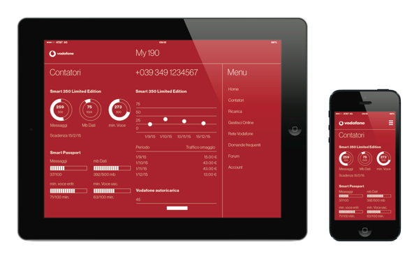 Ios App: Vodafone on Behance | Vodafone Design | Pinterest ...