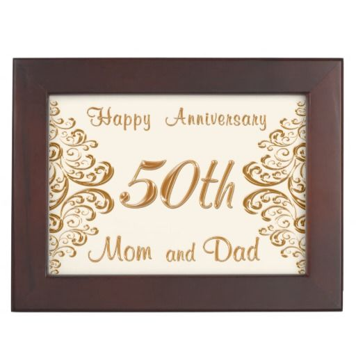 25th Wedding Anniversary Gifts For Mum And Dad: 50th Anniversary Keepsake Box For Mom And Dad