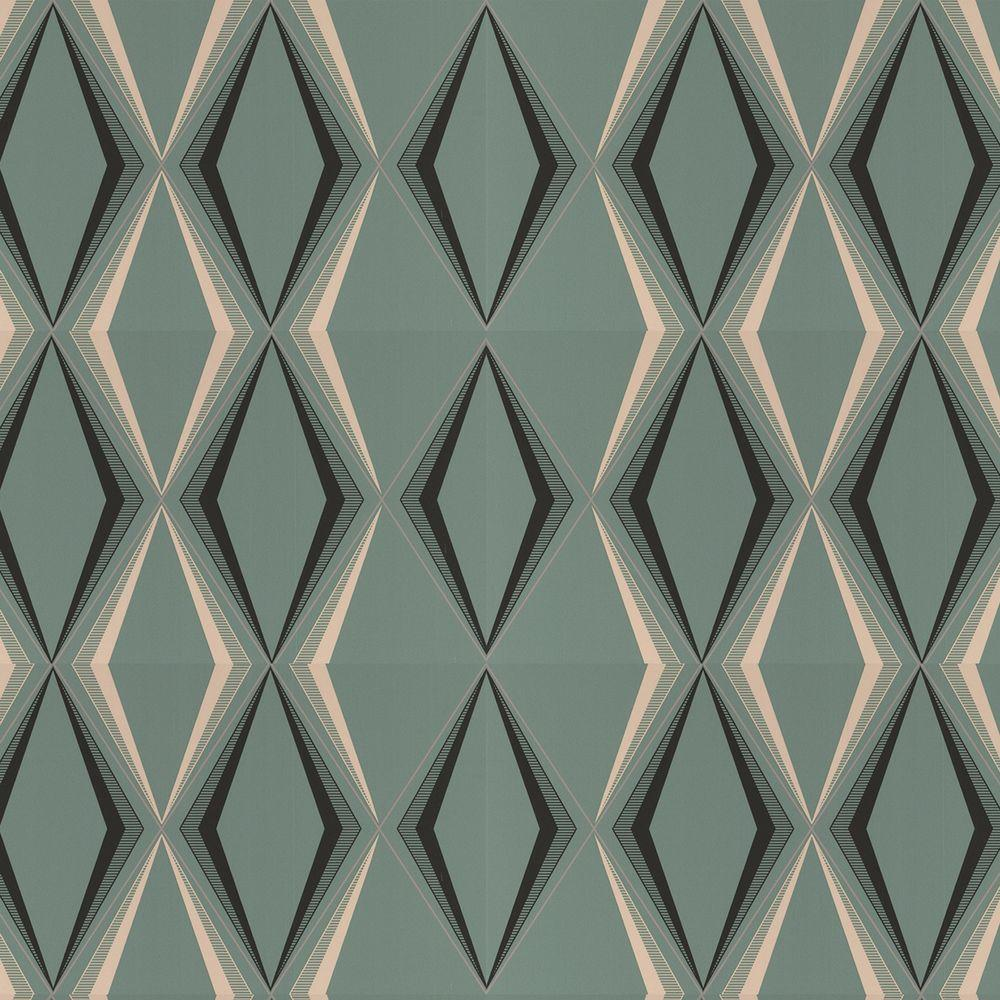 Graham & Brown 56 sq. ft. Deco Diamond Green Wallpaper-50-254 at The Home Depot