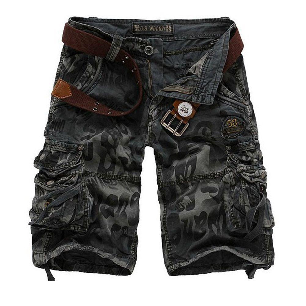 Men Multi Pocket Cotton Short Pants Multipocket Shortpants Cotton Pants Workout Training Pants Loose Cargo Shorts Men Mens Outfits Military Fashion