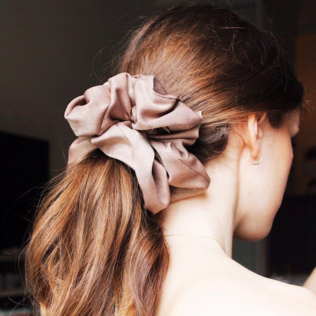 Silk Scrunchies Women Hair Ties Big Scrunchy Hair Bands Elastic Hair Accessories