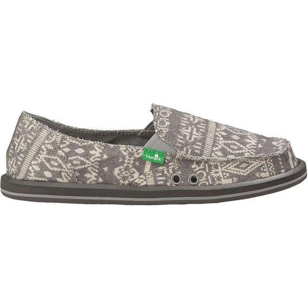 Sanuk Women's Johanna Shoe (2,805 PHP) ❤ liked on Polyvore featuring shoes,  grey