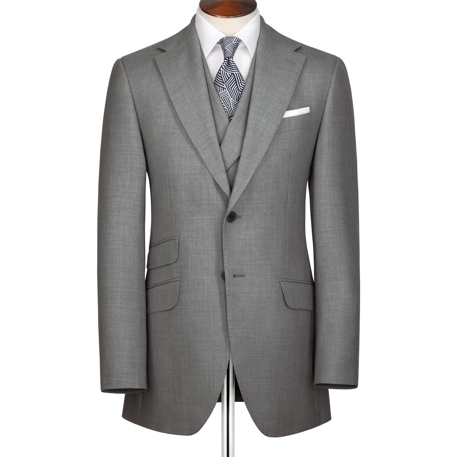 Silver grey British Panama Slim fit luxury suit | Men's ...