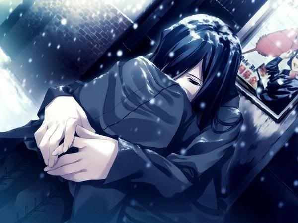 Anime Lonely Wallpapers Lonely Snowing Anime Girl Wallpaper