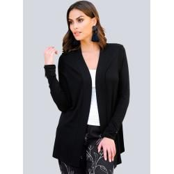 Photo of Alba Moda, shirt jacket in summer knitting quality, black Alba Moda