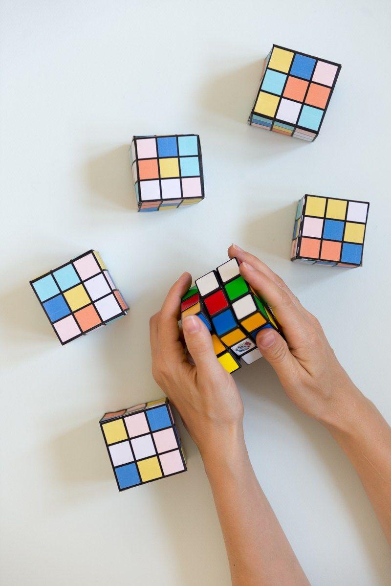 Diy Rubik S Cube With Free Printables Diy Gifts For Kids Diy