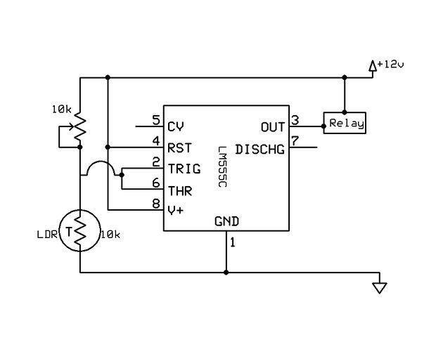 Dark Activated Switch | Circuit diagram and Circuits