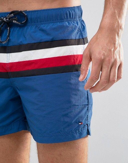 92992308be Tommy Hilfiger Swim Shorts Icon Stripe in Blue   MENS SWIM MI FW ...