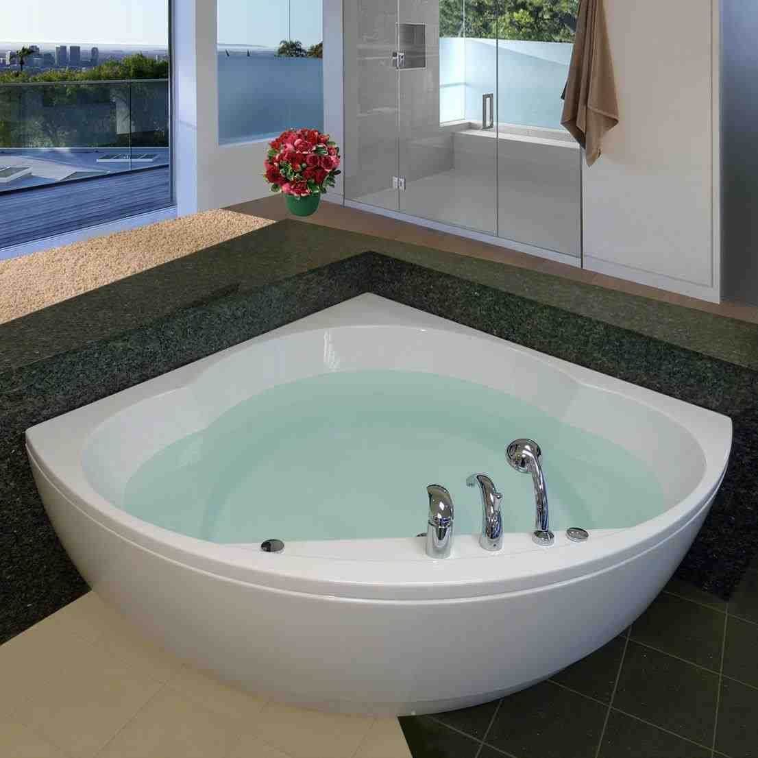 This deep soaking tub with jets - fascinating small soaker tub ...