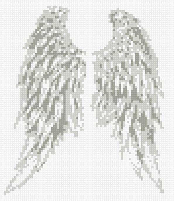 Вышивка крылья ангела на одежде
