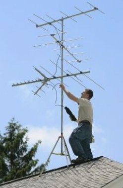 Rooftop TV Antenna - HA!