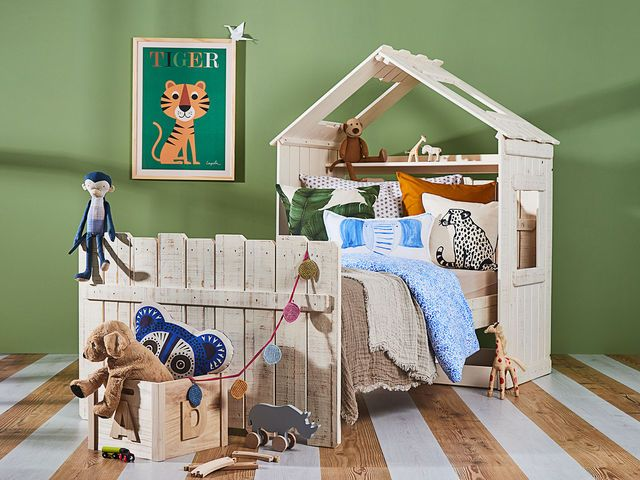 Kinderbett baggerbett  Kinderbett Safar 90x200 von massivum.de | Kiddiks | Pinterest ...