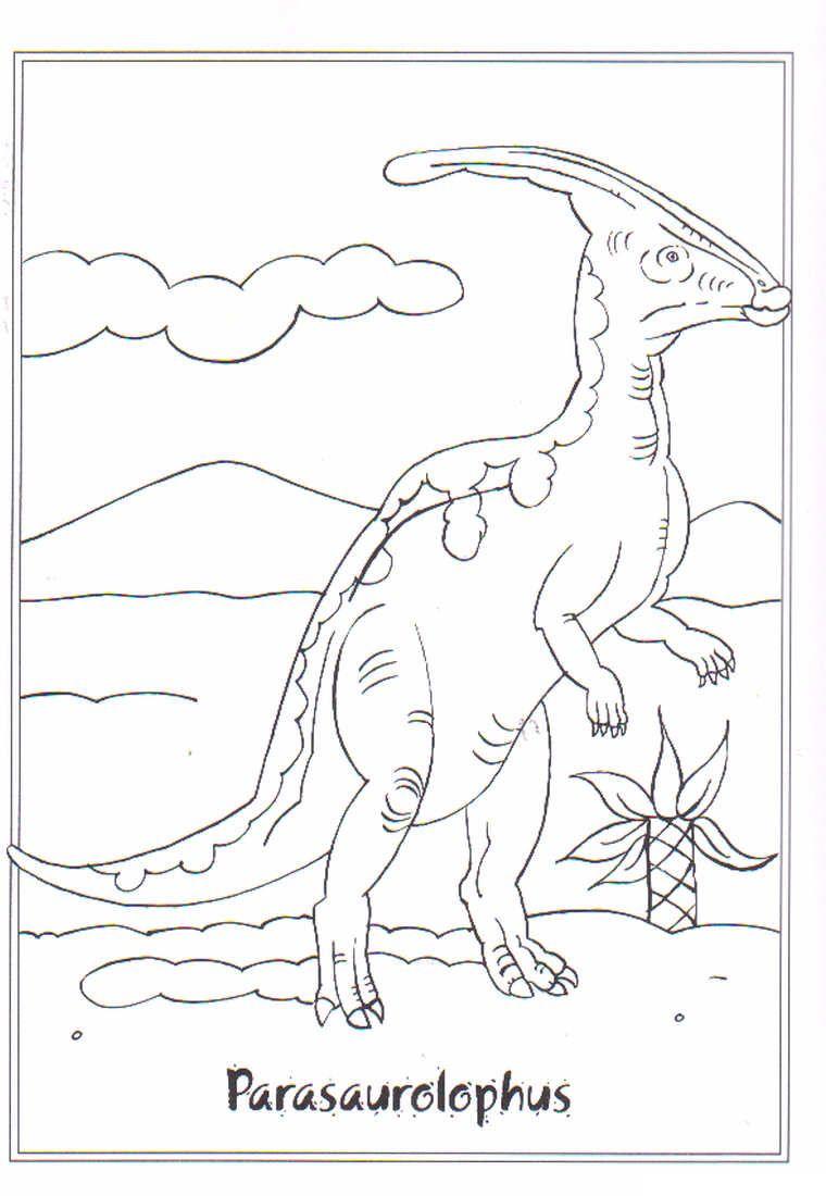 Kids N Fun Ausmalbild Dinosaurier 2 Parasaurolophus