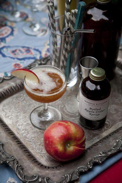 Morris Kitchen | FALL APPLE CRUSH   2 oz bourbon   1/2 oz Morris Kitchen Boiled Apple Cider Syrup   1 oz seltzer   1/2 oz fresh lemon juice