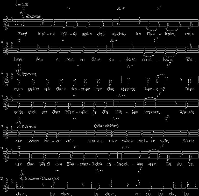 100 Kinderlieder für Gitarre 2 • Noten+Akkorde