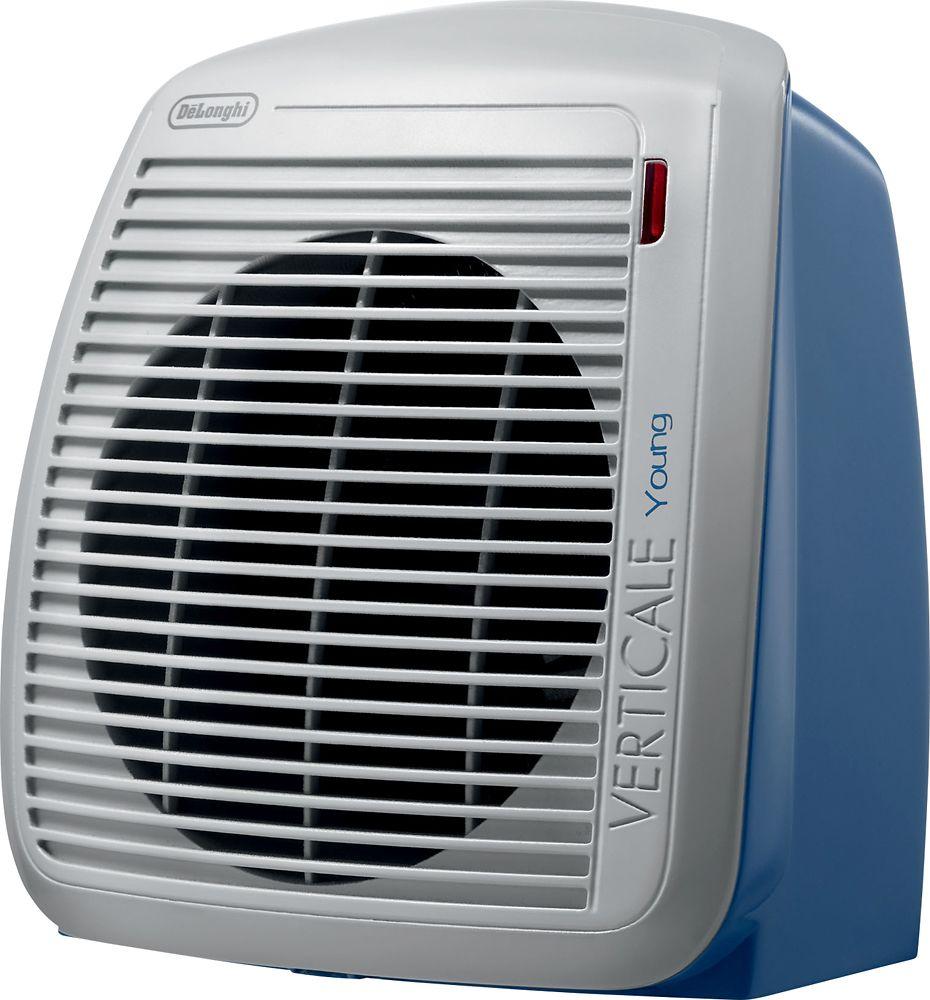 Delonghi Verticale Young Safeheat Fan Heater Gray Blue In 2019 Electric Fan Portable Fan Cool Things To Buy