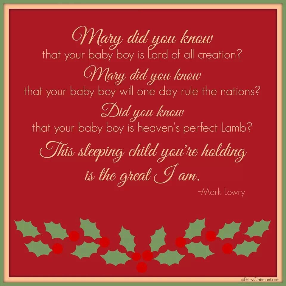 Mary Did You Know Lyrics By Mark Lowry The Great I Am Do You Know Lyrics Christmas Reflections