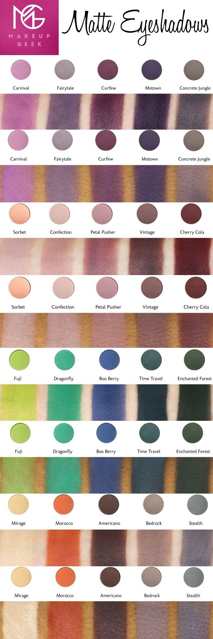 Makeup Geekjust launched 20 new and reformulated matte eyeshadows! I'm very excited by this because I love to use mattes with my hooded eyes!