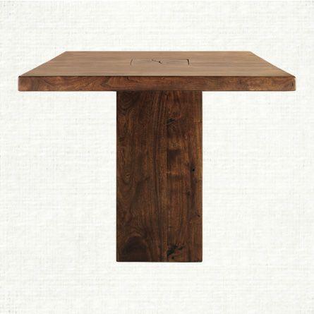 Tao 40 square pedestal dining table in walnut arhaus furniture tao 40 square pedestal dining table in walnut watchthetrailerfo