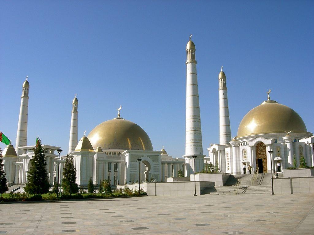 Kipchak Mosque in Ashgabat,Turkmenistan
