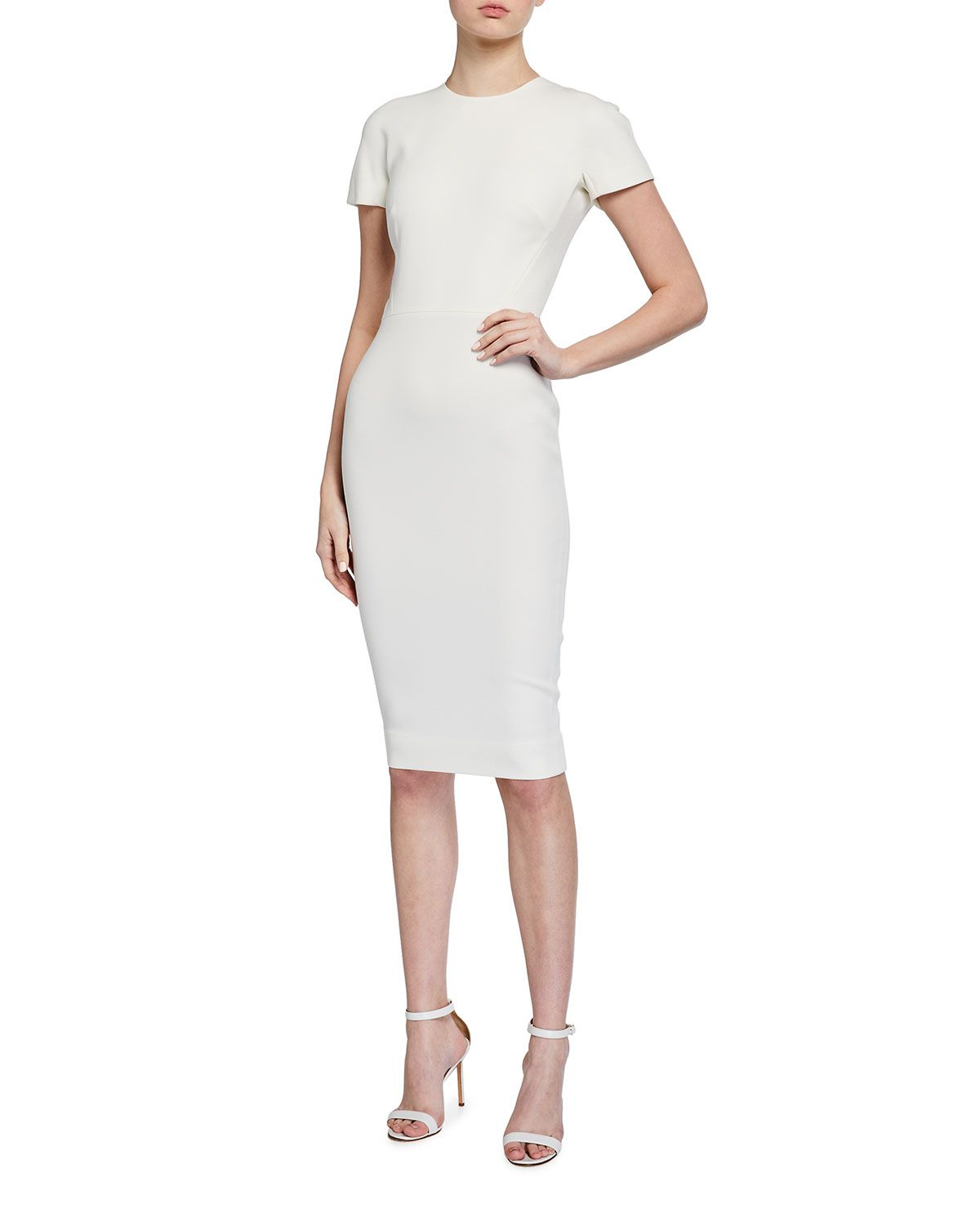 Victoria Beckham Fitted T Shirt Dress In 2021 Victoria Beckham Dress Dresses T Shirt Dress [ 1500 x 1200 Pixel ]