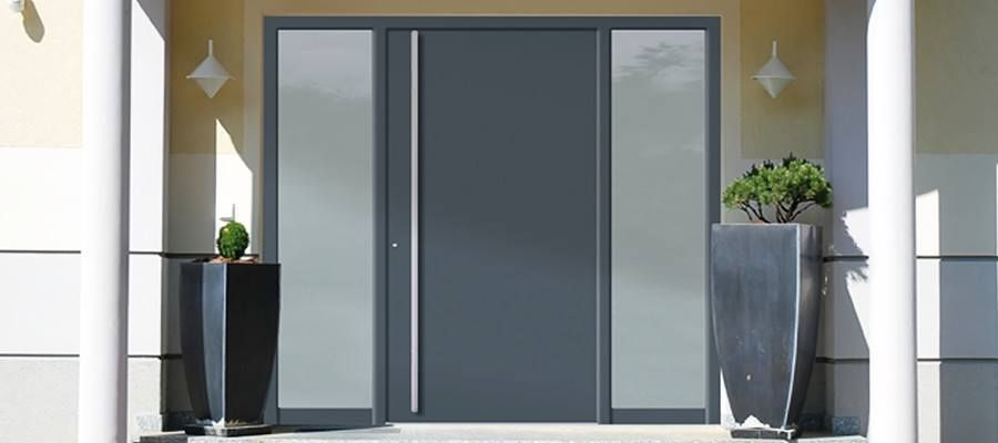 eingangst r mit seitenteil fassade. Black Bedroom Furniture Sets. Home Design Ideas
