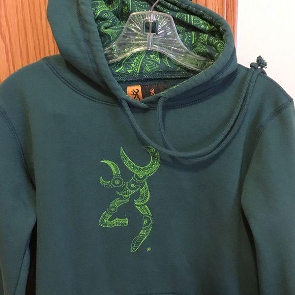 Browning Hoodie Great shape, no tears or stains. Browning Tops Sweatshirts & Hoodies