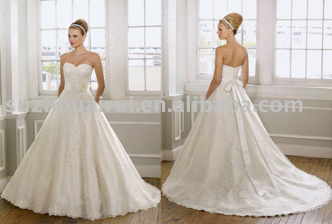 lace ballgown wedding dresses | Nb373 Elegant Ball Gown Lace ...