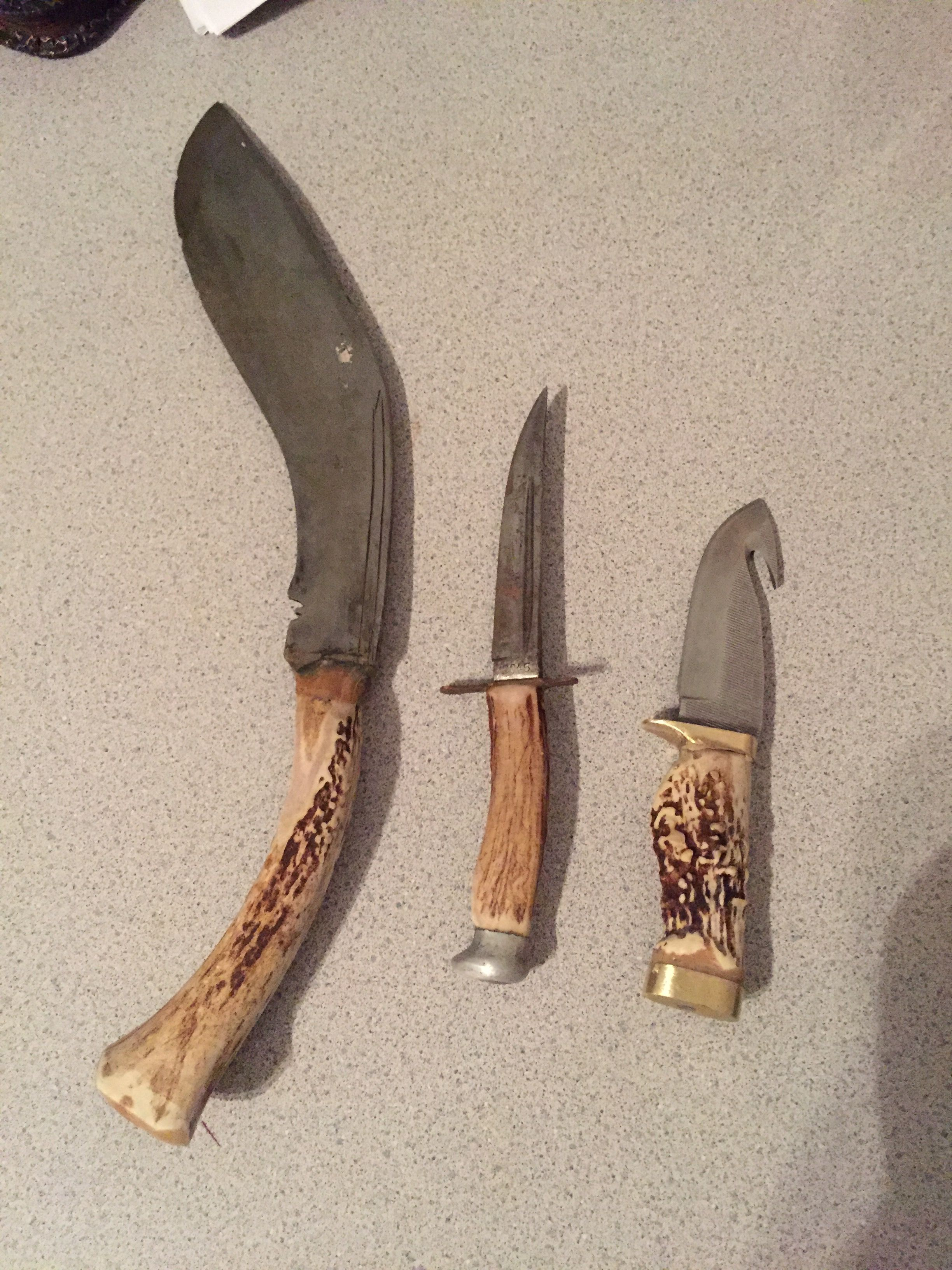 How to make a knife handle out of deer antler old man