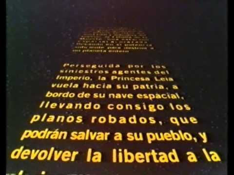 Prologo en castellano de La guerra de las galaxias CBS/FOX 1984 - YouTube May the 4th be with you