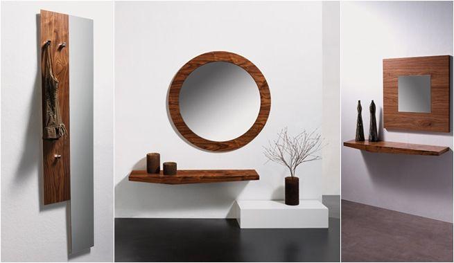 Ideas modernas para decorar un recibidor pequeño | Decoración ...