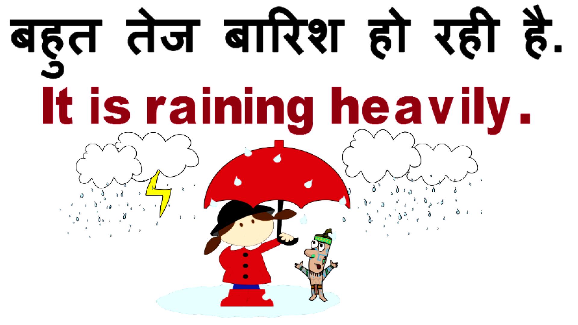 Rainy Season Related English Sentences Phrases Words