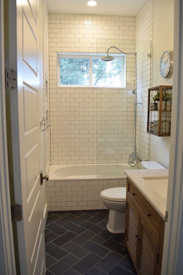 55 Fabulous Farmhouse Small Bathroom Remodel Decor Ideas Simple