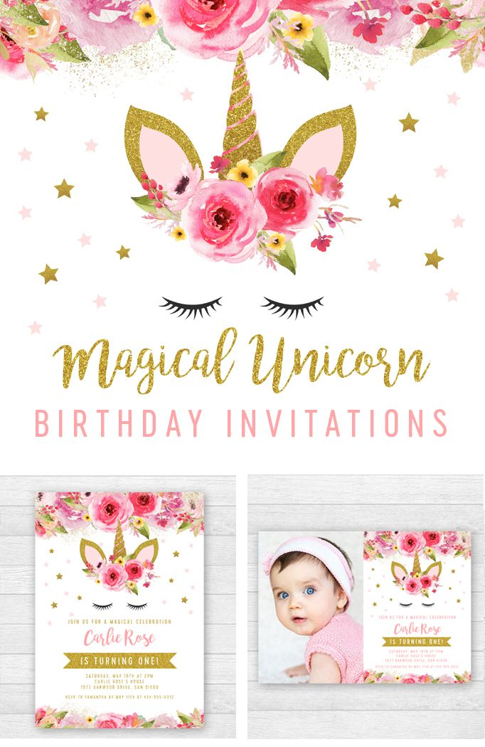 Unicorn Birthday Party Invitation Templates Edit Yourself Right In Your Browser A Unicorn Birthday Party Invitation Unicorn Birthday Unicorn Birthday Parties