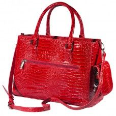 Drink Purse Red Croc