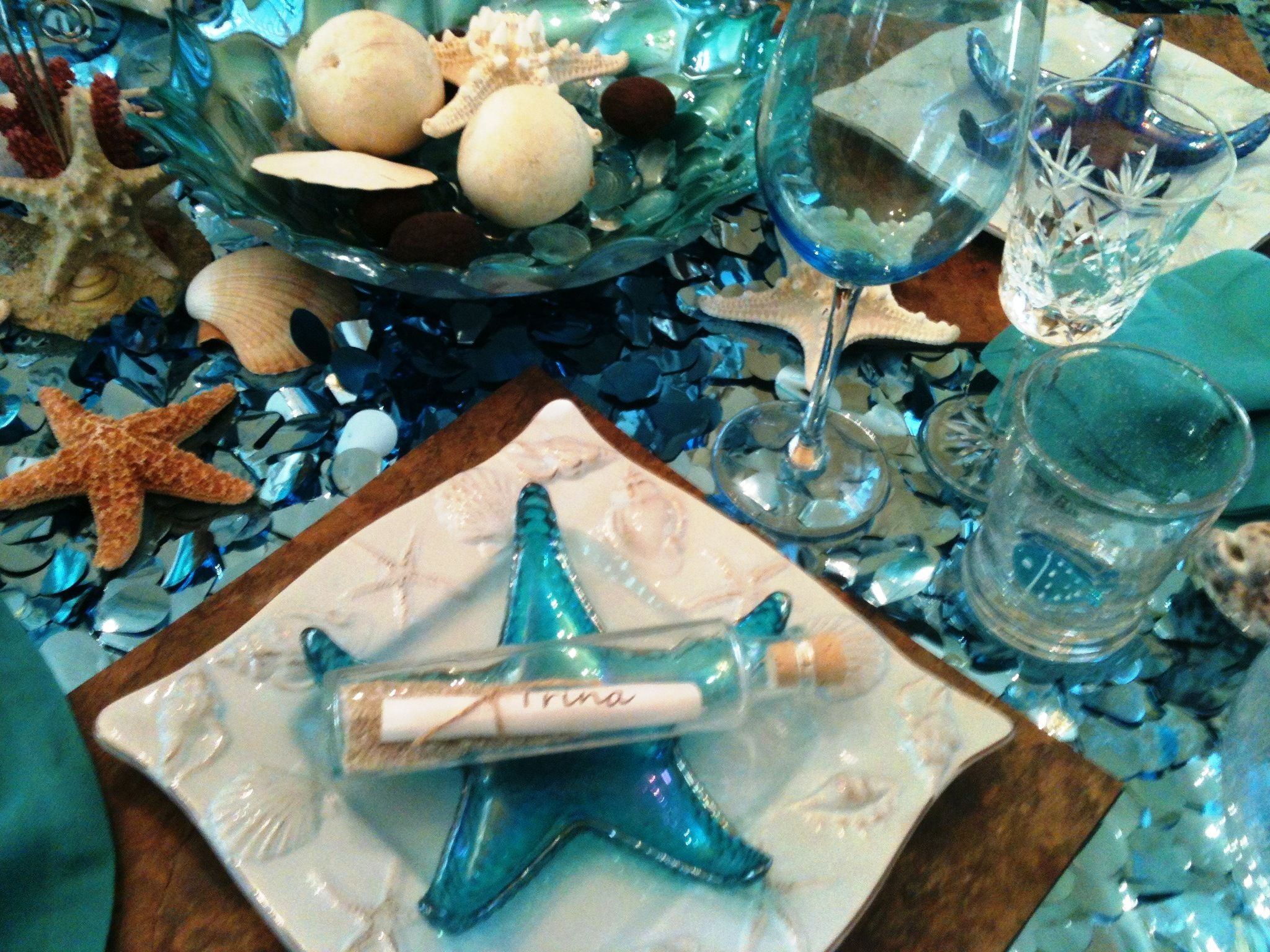 Sneak Peak At Under The Sea Table With Images Sea Wedding