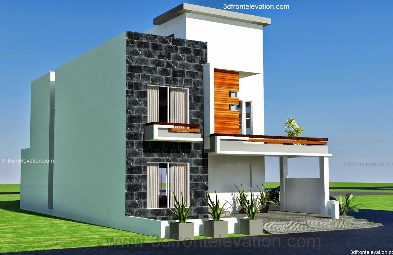 Marla Modern Architecture House Plan Corner Plot Design In