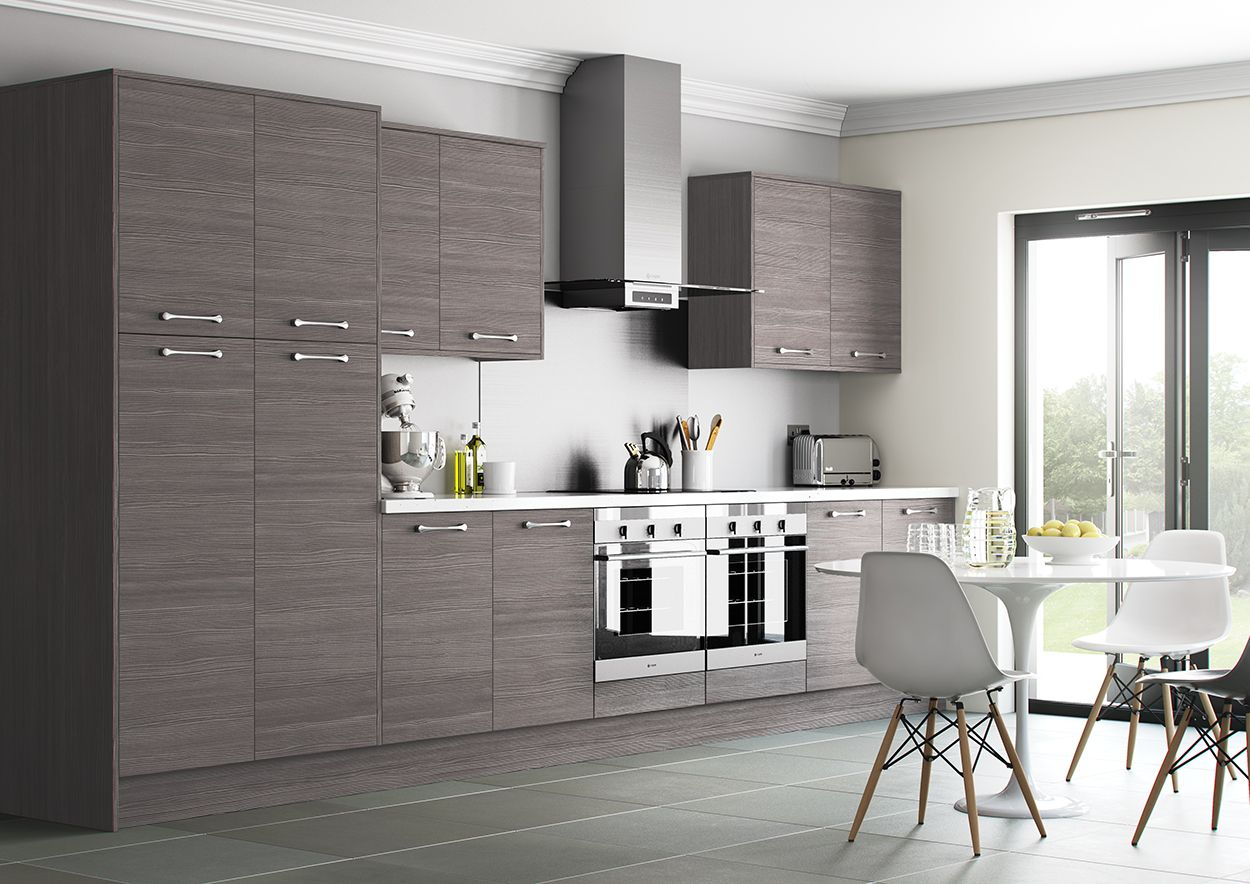 Best Woodgrain Grey Brown Avola Kitchen From Sigma 3 Trade 400 x 300
