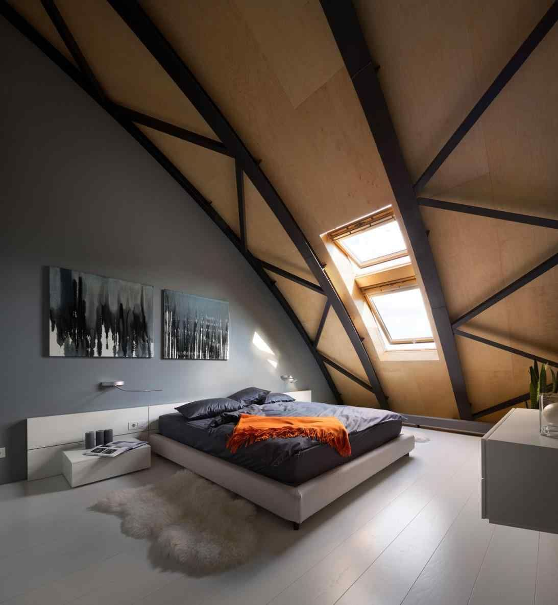 Bedroom interior roof pin by edoem on contemporary penthouse kiev  pinterest  penthouses