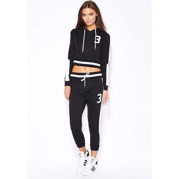 304 SQUAD Crop Hoodie LAVELIQ ($55) ❤ liked on Polyvore featuring tops, hoodies, sweatshirt hoodies, hooded pullover, cropped hoodie, white hoodie and logo hoodies