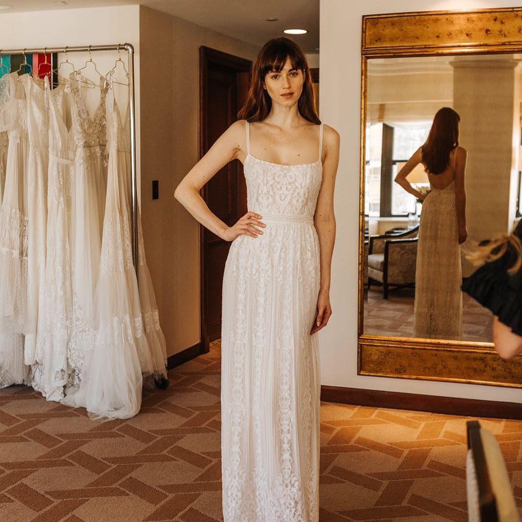 Boho chic wedding dress i vintage lace i wedding dress low back